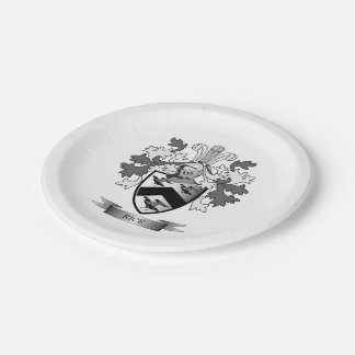 Rice Family Crest Coat of Arms Paper Plate