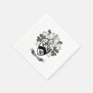 Rice Family Crest Coat of Arms Paper Serviettes