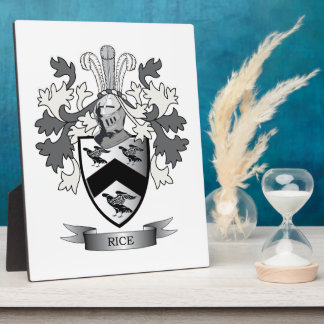 Rice Family Crest Coat of Arms Plaques