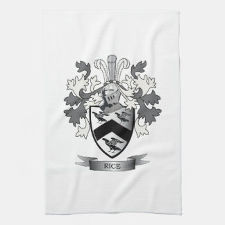 Rice Family Crest Coat of Arms Tea Towel