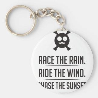 Rice in The Rain Key Ring