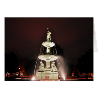 Rice Memorial Fountain at Night Note Card