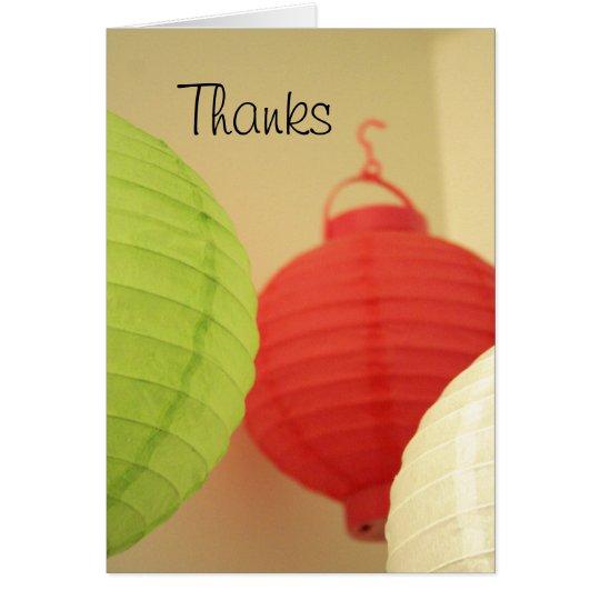 Rice Paper Lanterns card
