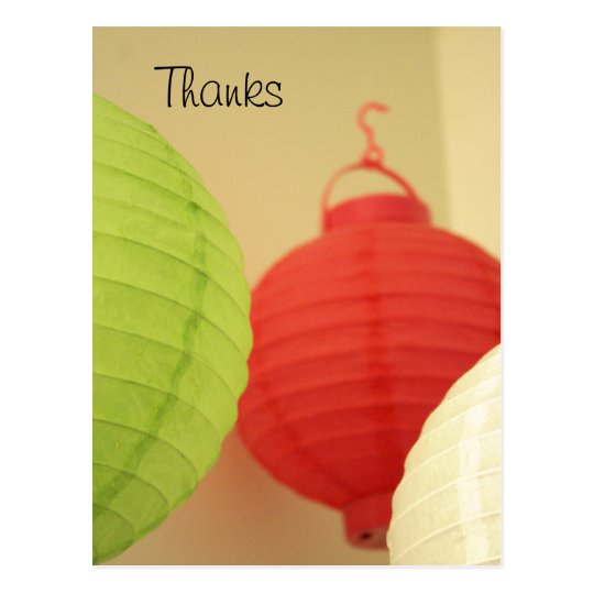 Rice Paper Lanterns postcard