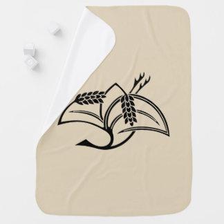 Rice plant crane baby blanket