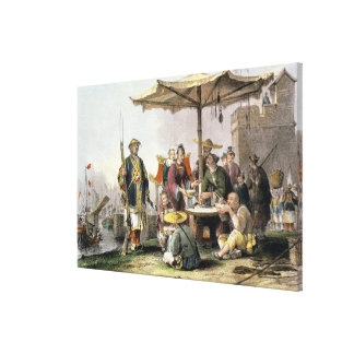 Rice Sellers at the Military Station of Tong-Chang Canvas Prints