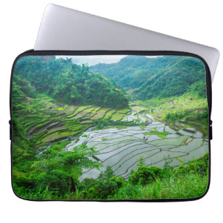 Rice terrace landscape, Philippines Laptop Sleeve