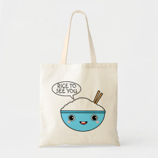 Rice to See You Tote Bag