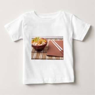 Rice vermicelli hu-teu in a small brown bowl baby T-Shirt