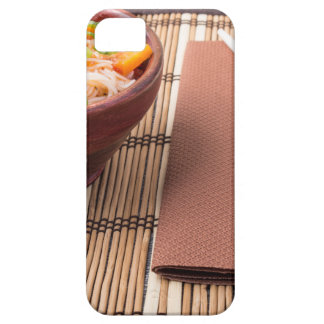 Rice vermicelli hu-teu in a small brown bowl iPhone 5 cover