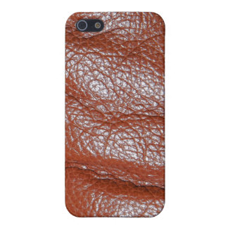 Rich Brown Leather-look Texture iPhone Speck Case Cover For iPhone 5/5S