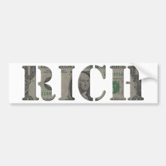 Rich Bumper Sticker