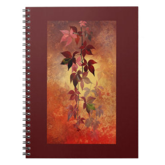 Rich Burgundy/Autumn Colors & Leaves Fall Notebook