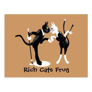 Rich cats Frug Postcard