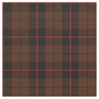 Rich coco brown plaid with red/black stripe fabric