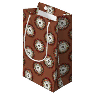 Rich copper mandala small gift bag
