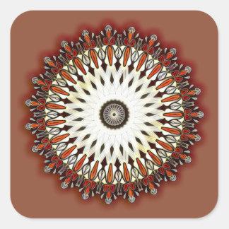 Rich copper mandala square sticker
