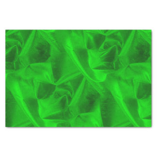 Rich Crumpled Metallic Green Faux Lame' Texture Tissue Paper