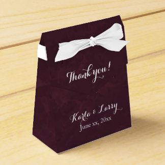 Rich Dark Burgundy Favour Box