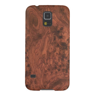 Rich Elegant Mahogany Wood Grain Texture Galaxy S5 Covers