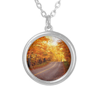 Rich Fall Colour St Joseph Island Silver Plated Necklace