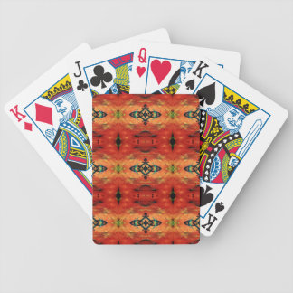 Rich Fall Orange Yellow Tribal Pattern Poker Deck