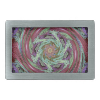Rich Fall Toned Artistic Spiral Abstract Belt Buckles