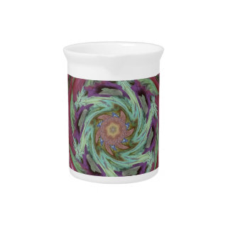 Rich Fall Toned Artistic Spiral Abstract Beverage Pitchers