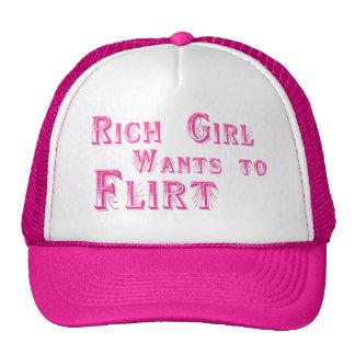 rich girl wants to flirt trucker hat
