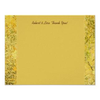 Rich Gold Autumn Woods Fall Thank You 11 Cm X 14 Cm Invitation Card