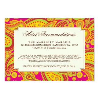 Rich Gold Paisley Pattern Party Enclosure Card 9 Cm X 13 Cm Invitation Card