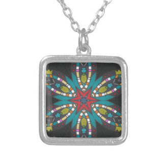 RICH GRAPHIC IN VIBRANT COLORS NECKLACES