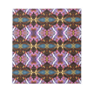 Rich Jewel Tones Abstract Fractal Tribal Pattern Notepad