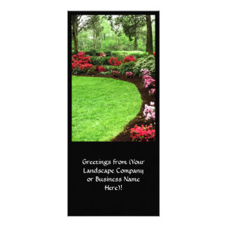 Rich Landscape Lawn Care Business Personalised Rack Card