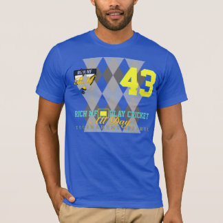 Rich MF Play Cricket All Day Funny Birthday Sports T-Shirt