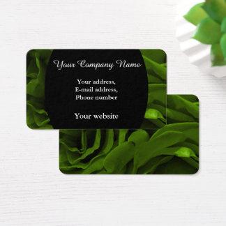 Rich olive green velvety roses flower photo business card