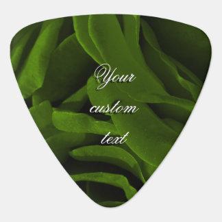 Rich olive green velvety roses flower photo guitar pick