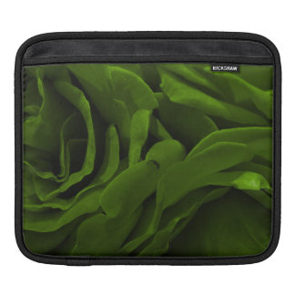 Rich olive green velvety roses flower photo iPad sleeve