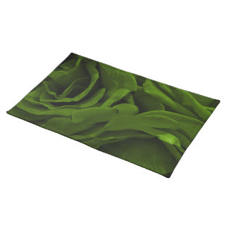 Rich olive green velvety roses flower photo placemat