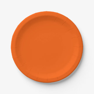 Rich Orange Paper Plates