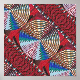 RICH Oriental ART : Sparkle CHAKRA n Silken Fabric Poster