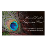 Rich Peacock Feather with Green Moss Pack Of Standard Business Cards