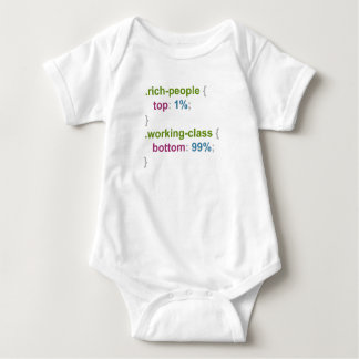 Rich people and working class baby bodysuit