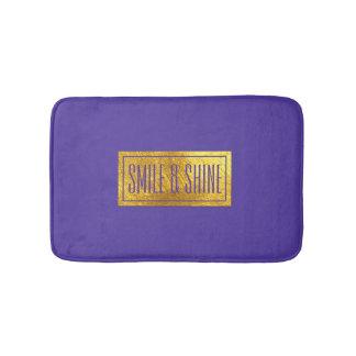 Rich Purple and Gold Tone Bath Mat