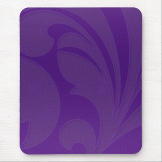 Rich Purple Flourish Mousepads