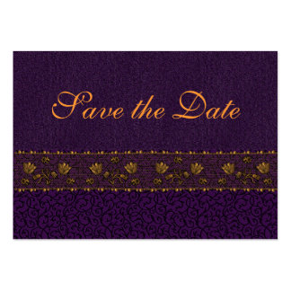 Rich Purple Save the Date Business Card