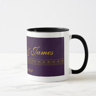 Rich Purple Wedding Mug