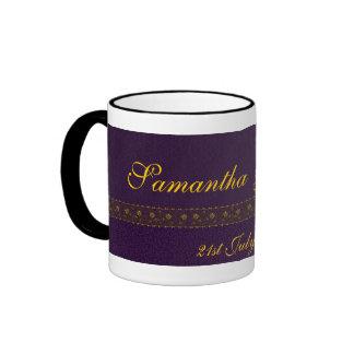 Rich Purple Wedding Mug