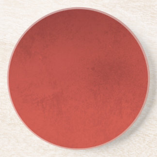 RICH RED GRADIENT BACKGROUND LOVE TEXTURED TEMPLAT COASTER