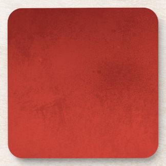 RICH RED GRADIENT BACKGROUND LOVE TEXTURED TEMPLAT COASTER